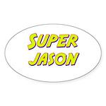 Super jason Oval Sticker