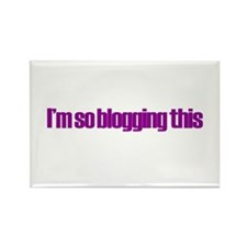 So Blogging This Rectangle Magnet
