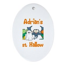 Adrian's First Halloween Oval Ornament