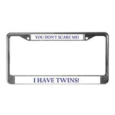 Cute Twins License Plate Frame