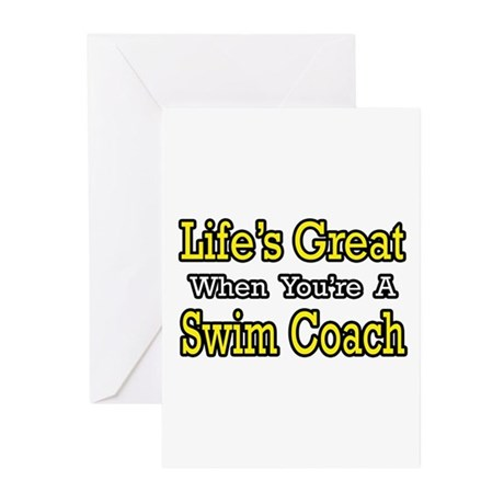 """Life's Great...Swim Coach"" Greeting Cards (Pk of"