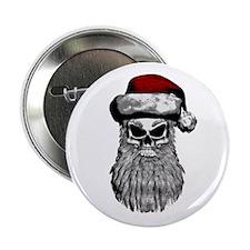 """Santa Skull 2.25"""" Button"""
