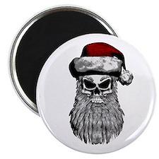 """Santa Skull 2.25"""" Magnet (10 pack)"""