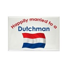 Happily Married Dutchman 2 Rectangle Magnet