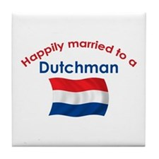Happily Married Dutchman 2 Tile Coaster