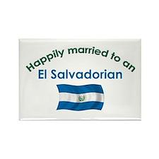 Happ Married El Salvadorian Rectangle Magnet