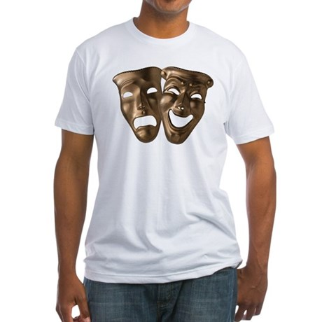 Drama and Comedy Masks Fitted T-Shirt