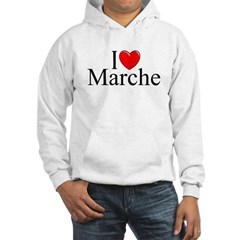 """I Love (Heart) Marche"" Hooded Sweatshirt"