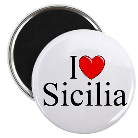 """I Love (Heart) Sicilia"" Magnet"