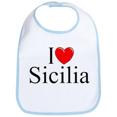 """I Love (Heart) Sicilia"" Bib"