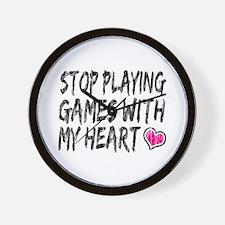 'Playing Games' Wall Clock