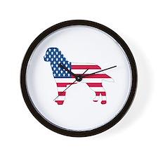USA Labrador Wall Clock
