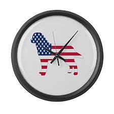 USA Labrador Large Wall Clock