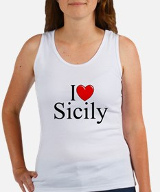"""I Love (Heart) Sicily"" Women's Tank Top"