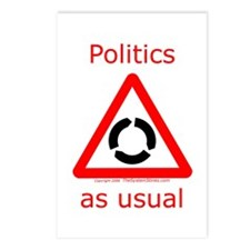 Politics as Usual Postcards (Package of 8)