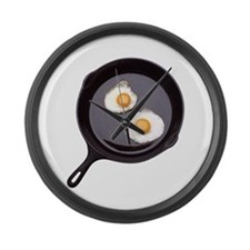 Fried Eggs Large Wall Clock