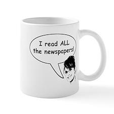 Palin Reads Newspapers Mug