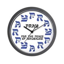 PRAY FOR PEACE OF JERUSALEM Wall Clock
