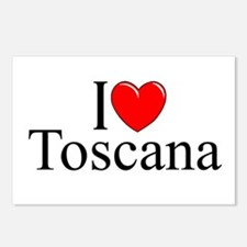 """""""I Love (Heart) Toscana"""" Postcards (Package of 8)"""
