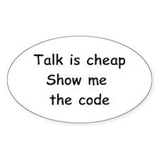 Software Engineer Oval Sticker (50 pk)