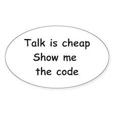 Software Engineer Oval Sticker (10 pk)