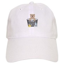 Bath Time Bear Baseball Cap