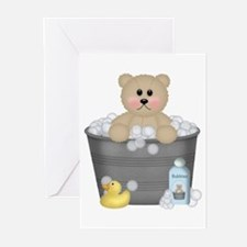 Bath Time Bear Greeting Cards (Pk of 10)