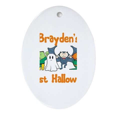 Brayden's First Halloween Oval Ornament