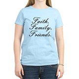 Faith family friends Women's Light T-Shirt
