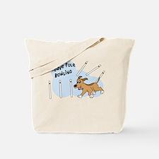 Funny Weaving Agility Dog Tote Bag