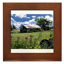 Funny Farm barns Framed Tile