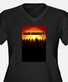 Dawn of the Democrats Women's Plus Size V-Neck Dar