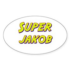 Super jakob Oval Decal