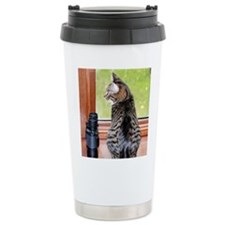BIRDWATCHER CAT Travel Mug