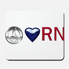 Peace Love RN Mousepad