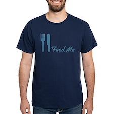Blue Feed Me Fork Knife T-Shirt