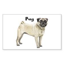 Pug Rectangle Decal