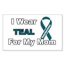 Mom Ovarian Cancer Survivor Rectangle Decal