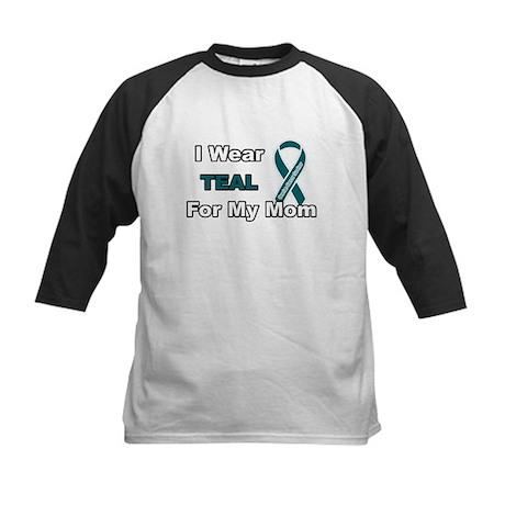 Mom Ovarian Cancer Survivor Kids Baseball Jersey