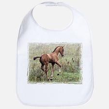 Playful Horse Foal Bib