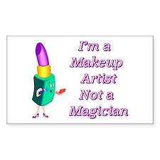 Makeup Artist Rectangle Sticker 10 pk)