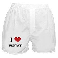 I Love Privacy Boxer Shorts