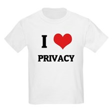 I Love Privacy Kids T-Shirt