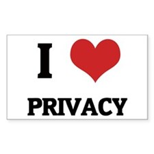 I Love Privacy Rectangle Decal