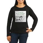 womens divorce joke Women's Long Sleeve Dark T-Shi