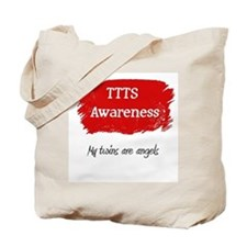My twins are angels Tote Bag