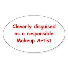 Makeup Artist Oval Sticker (10 pk)