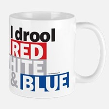 I Drool Red, White and Blue Mug
