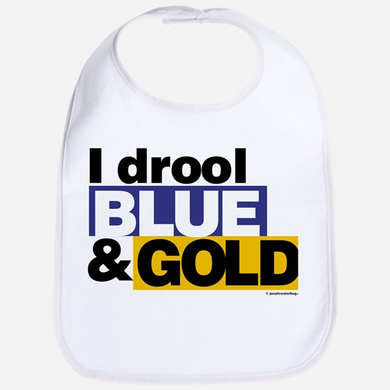 I Drool Blue and Gold Bib