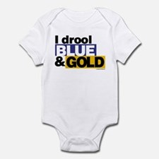 I Drool Blue and Gold Infant Bodysuit